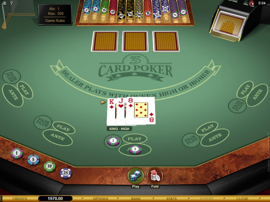 3 Card Second Chance Poker